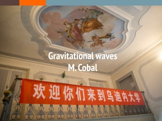 Gravitational waves M.  Cobal