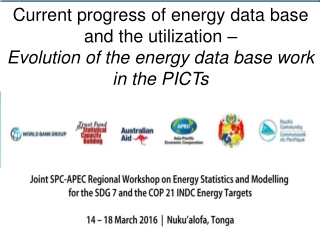 Current progress of energy data base and the utilization –