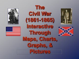 The Civil War (1861-1865) Interactive Through Maps, Charts, Graphs, & Pictures