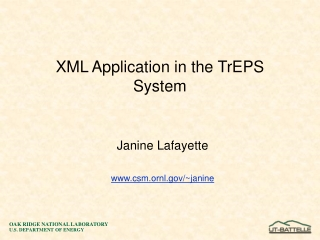 XML Application in the TrEPS System