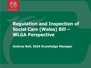 Regulation and Inspection of Social Care (Wales) Bill –WLGA Perspective