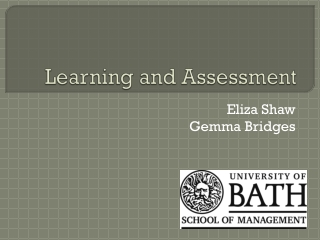 Learning and Assessment