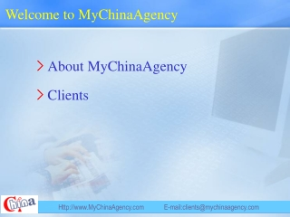 Welcome to MyChinaAgency