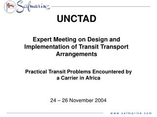 UNCTAD Expert Meeting on Design and Implementation of Transit Transport Arrangements