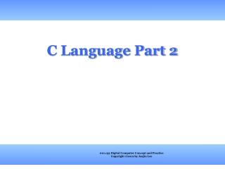 C Language Part 2
