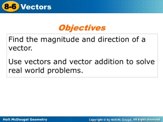 Find the magnitude and direction of a vector.