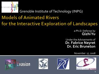 Models of Animated Rivers  for the Interactive Exploration of Landscapes