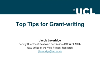 Top Tips for Grant-writing