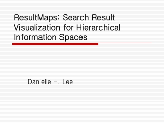 ResultMaps: Search Result Visualization for Hierarchical Information Spaces