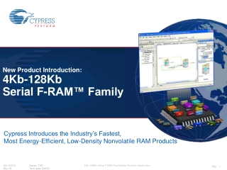 New Product Introduction: 4Kb-128Kb  Serial F-RAM™ Family