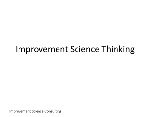 Improvement Science Thinking