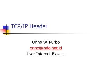 TCP/IP Header