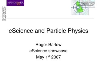 eScience and Particle Physics