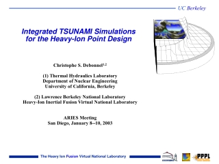 Integrated TSUNAMI Simulations for the Heavy-Ion Point Design