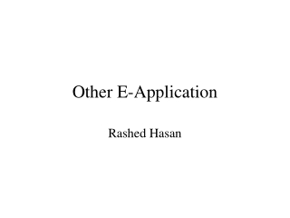 Other E-Application