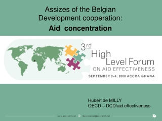 Assizes of the Belgian Development cooperation:  Aid  concentration