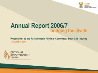 Annual Report 2006/7