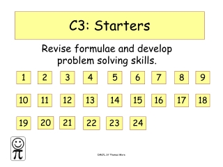 C3: Starters