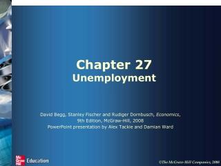 Chapter 27 Unemployment