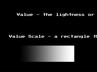 Value Scale - a rectangle that displays all possible values
