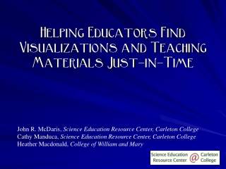 Helping Educators Find Visualizations and Teaching Materials Just-in-Time