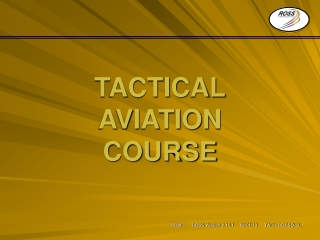 TACTICAL AVIATION COURSE