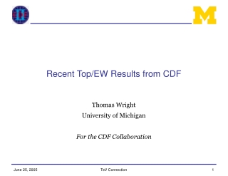 Recent Top/EW Results from CDF