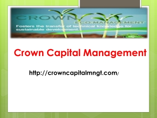 Crown Capitl Management- Potential applications of renewable