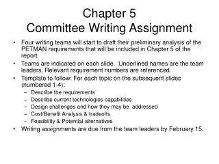 Chapter 5  Committee Writing Assignment
