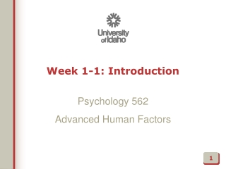 Week 1-1: Introduction