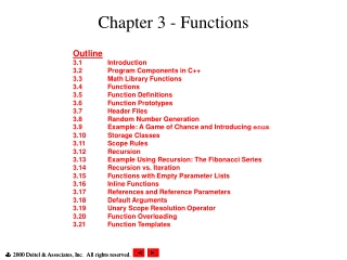Chapter 3 - Functions