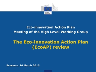 Eco-innovation Action Plan  Meeting of the High Level Working Group