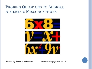 Probing Questions to Address Algebraic Misconceptions