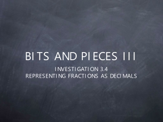 BITS AND PIECES III