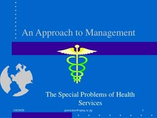 An Approach to Management