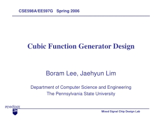 Cubic Function Generator Design
