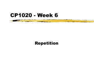 CP1020 - Week 6