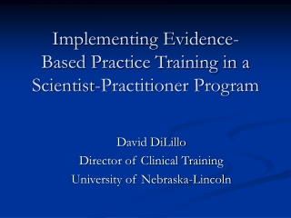 Implementing Evidence-Based Practice Training in a Scientist-Practitioner Program