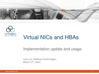 Virtual NICs and HBAs