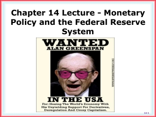 Chapter 14 Lecture - Monetary Policy and the Federal Reserve System