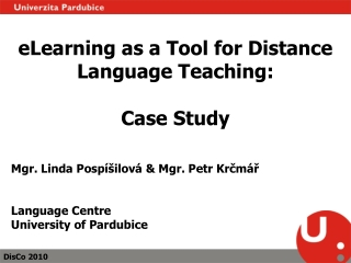 eLearning as a Tool for Distance Language Teaching: Case Study