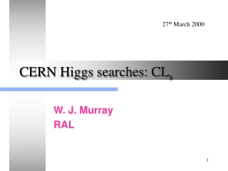 CERN Higgs searches: CL s