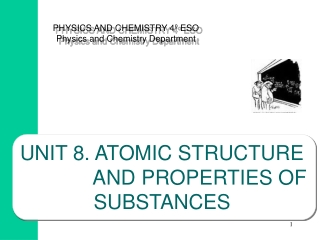 UNIT 8.  ATOMIC STRUCTURE              AND PROPERTIES OF              SUBSTANCES