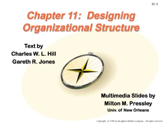 Chapter 11:  Designing Organizational Structure