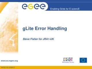 gLite Error Handling