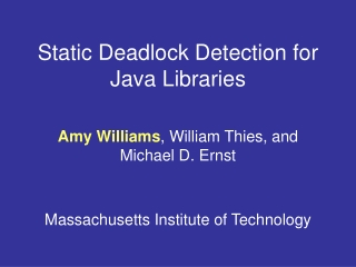 Static Deadlock Detection for Java Libraries