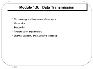 Module 1.9:   Data Transmission