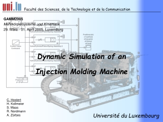 Dynamic Simulation of an Injection Molding Machine