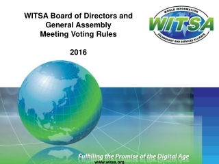 WITSA Board of Director s and  General Assembly  Meeting Voting Rules 2016