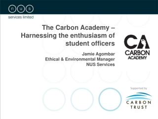 The Carbon Academy – Harnessing the enthusiasm of student officers Jamie Agombar